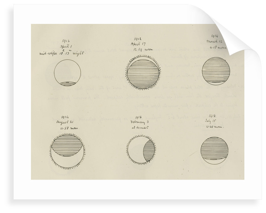 Appearance of eclipses 1912-1916 by Samuel Johnson