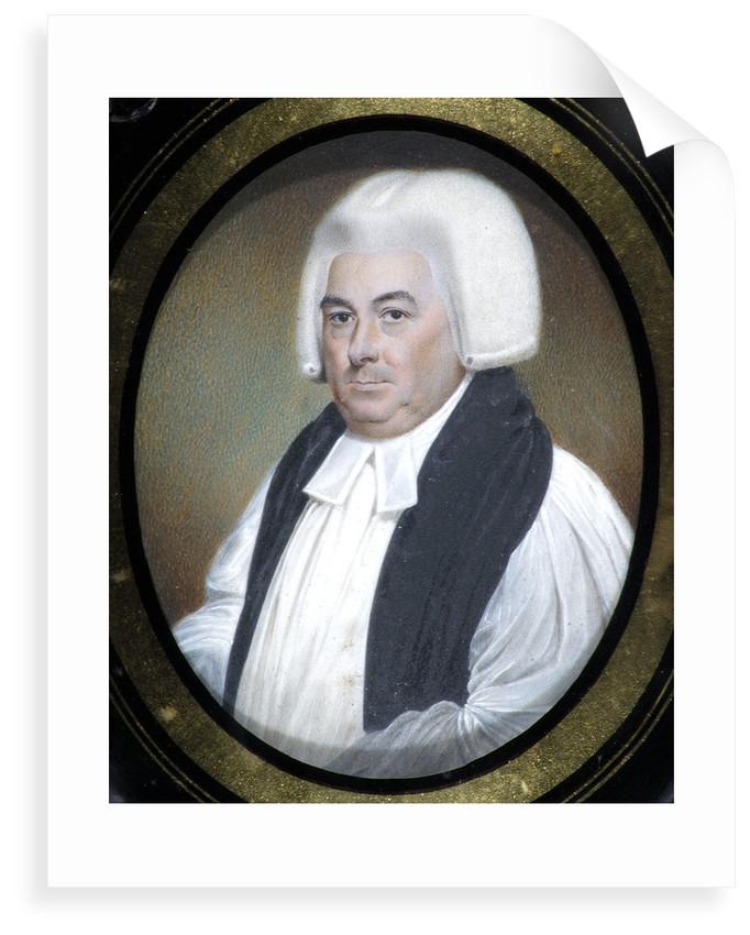 Miniature of Samuel Horsley (1733-1806) by Walter Stephens Lethbridge