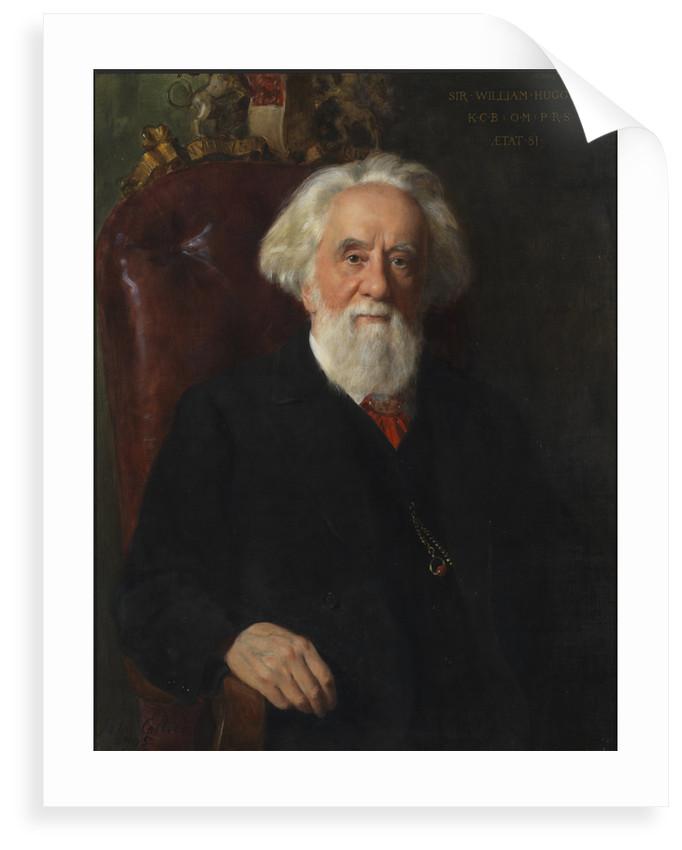 Portrait of Sir William Huggins (1824-1910) by John Collier