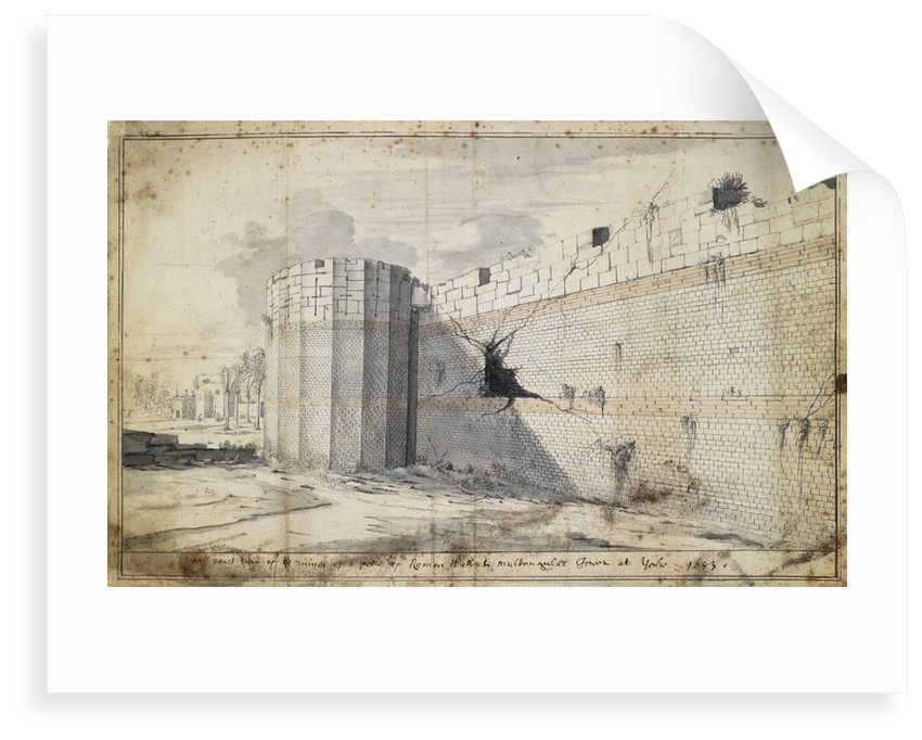 The Roman wall at York by Martin Lister