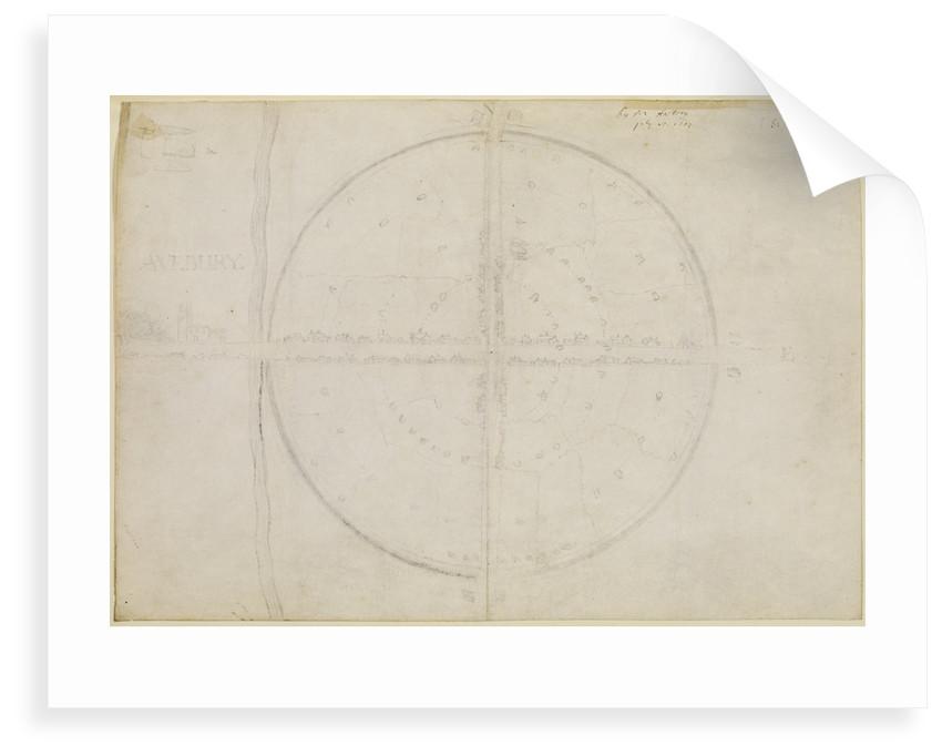 Plan of the stone circles of Avebury by John Aubrey
