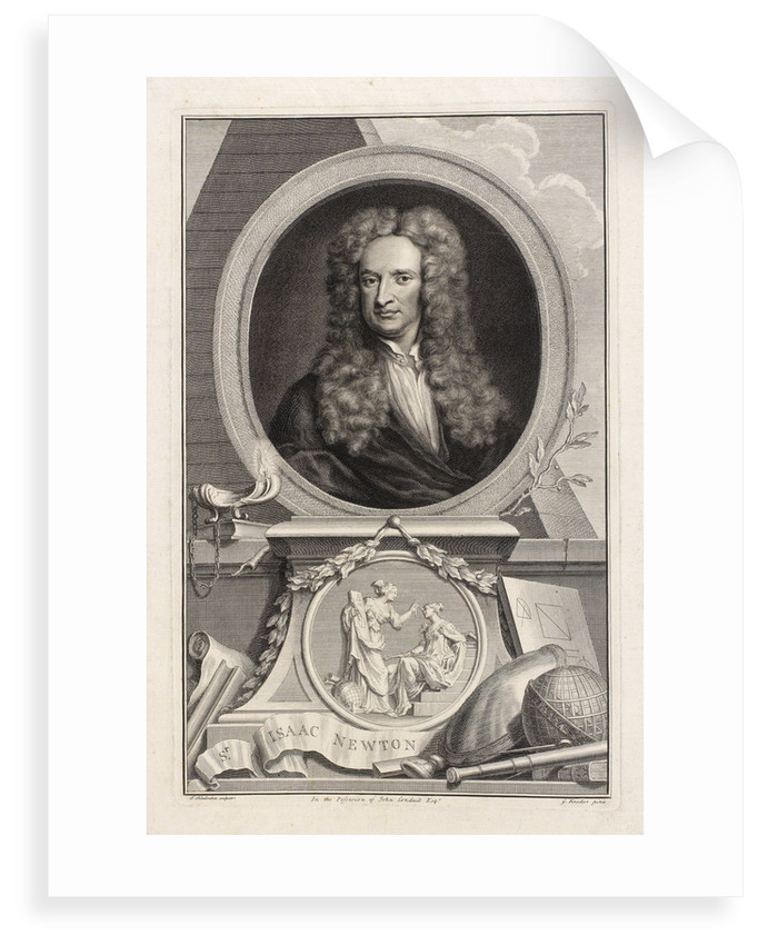Portrait of Isaac Newton (1642-1727) by Jacobus Houbraken