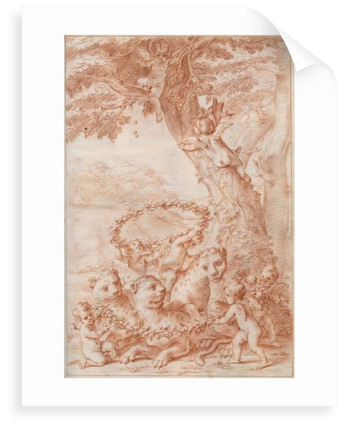 Frontispiece of Marcello Malpighi's 'Anatome Plantarum' by Marcello Malpighi