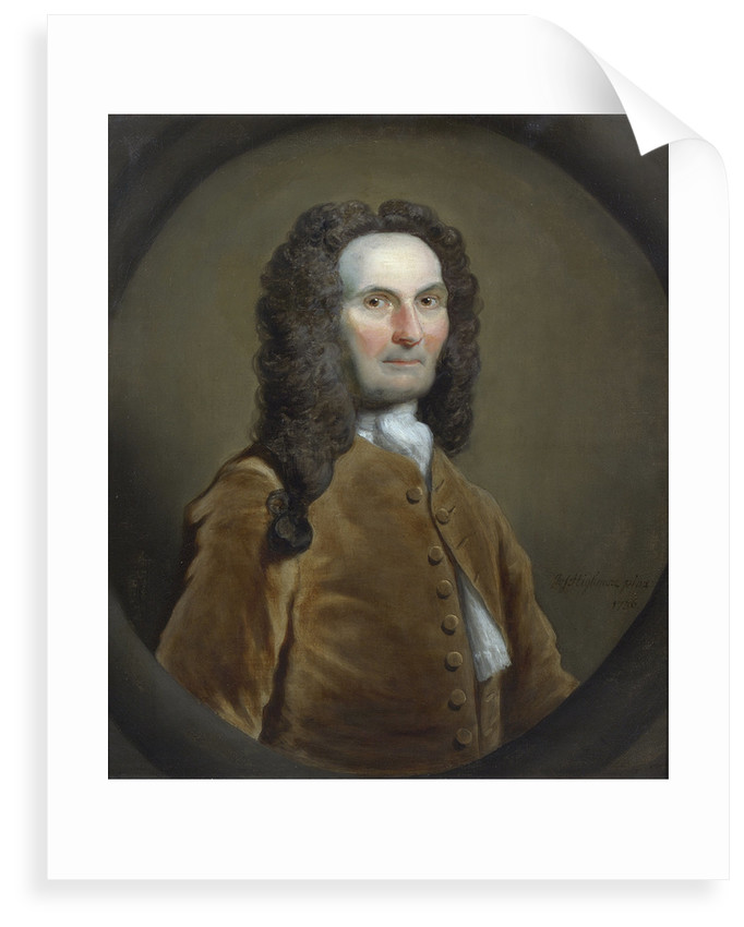 Portrait of Abraham de Moivre (1667-1754) by Joseph Highmore