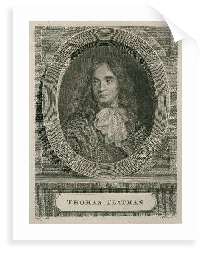 Portrait of Thomas Flatman (1635-1688) by Anthony Walker