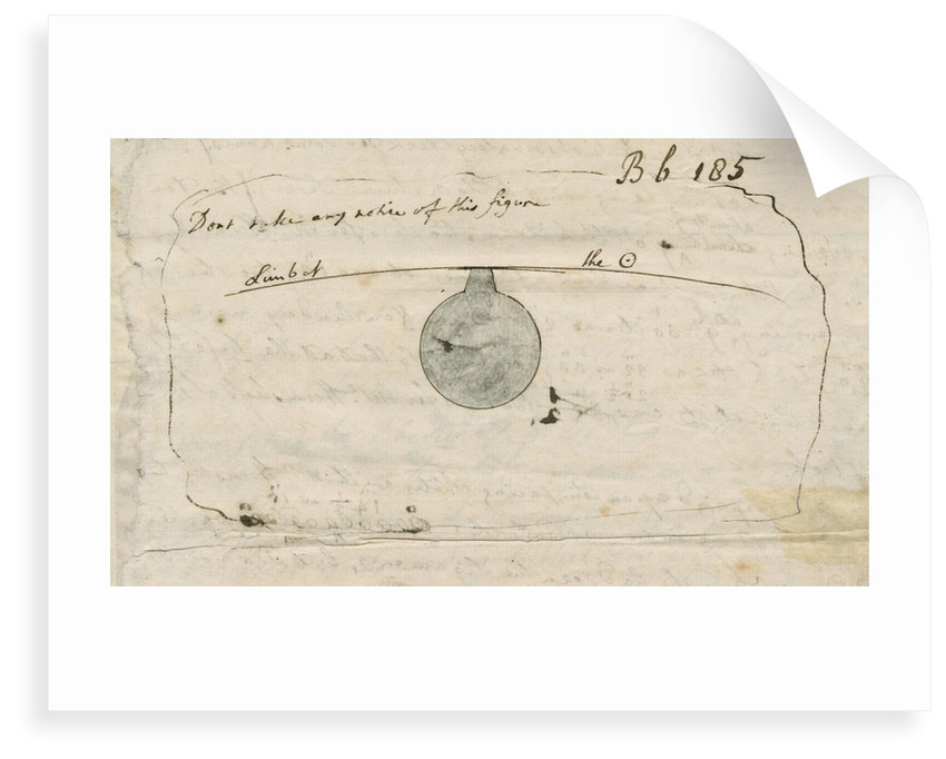 'Black drop' effect during the 1769 Transit of Venus by Samuel Horsley