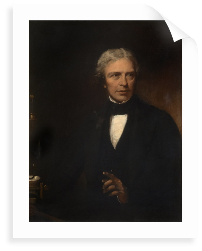 Portrait of Michael Faraday (1791-1867) by Alexander Blaikley