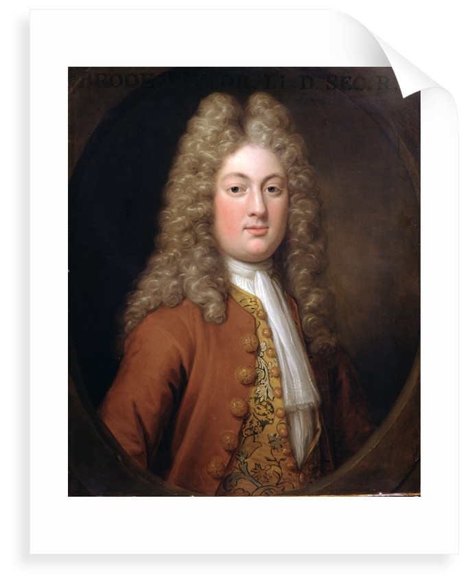 Portrait of Brook Taylor (1685-1731) by Hans Hysing