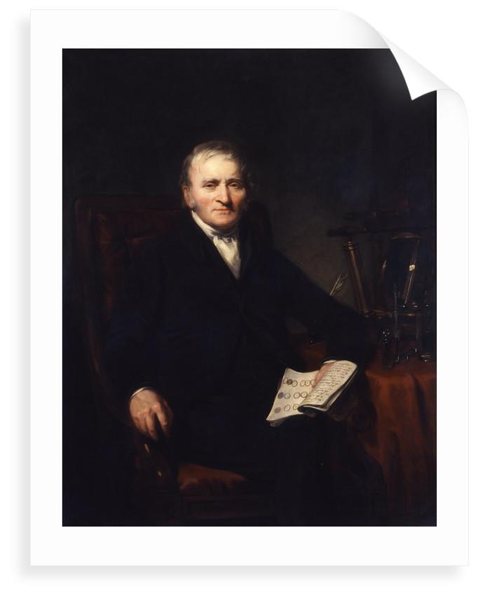 Portrait of John Dalton (1766-1844) by Benjamin Rawlinson Faulkner