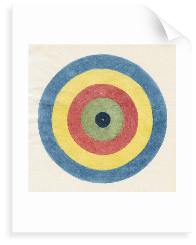 Roundel for use in optical experiments by Robert Waring Darwin