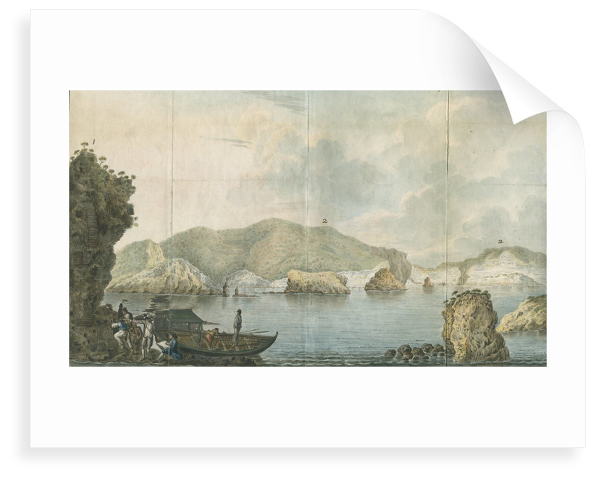 Sir William Hamilton's party on the island of Ponza by Francesco Progenie