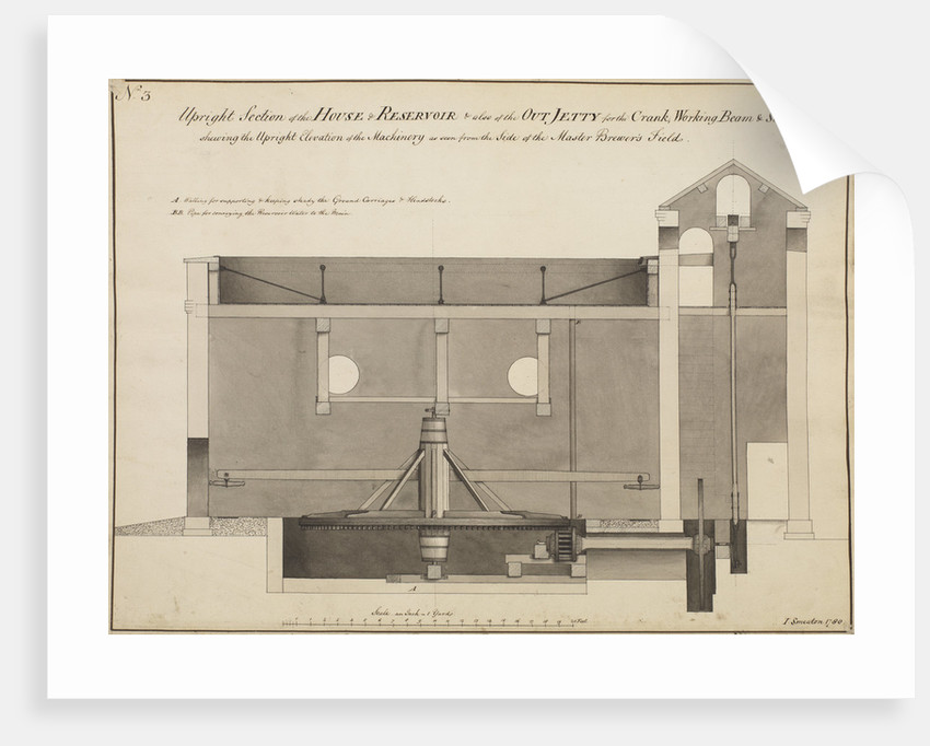 John Smeaton's design for the Weevill Brewery, Southampton by John Smeaton