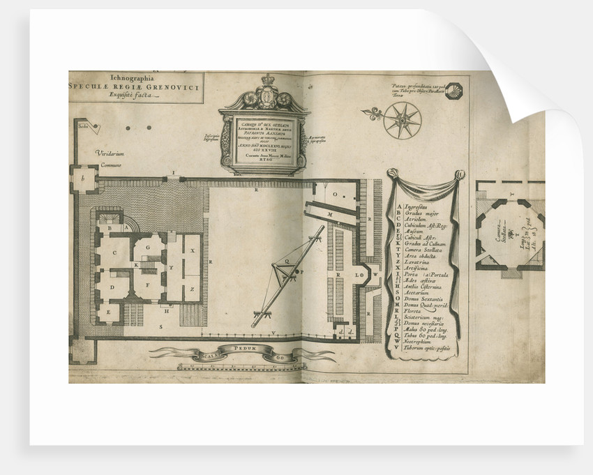 Plan of the Royal Observatory, Greenwich by Francis Place