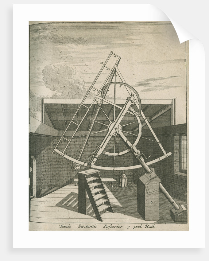 Equatorial sextant at the Royal Observatory, Greenwich by Francis Place