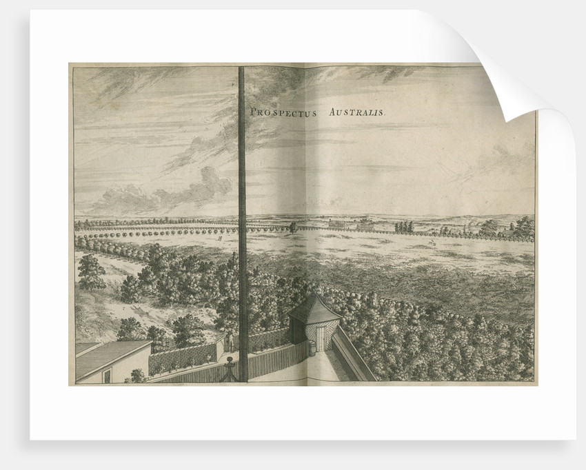 South view from the Royal Observatory, Greenwich by Francis Place