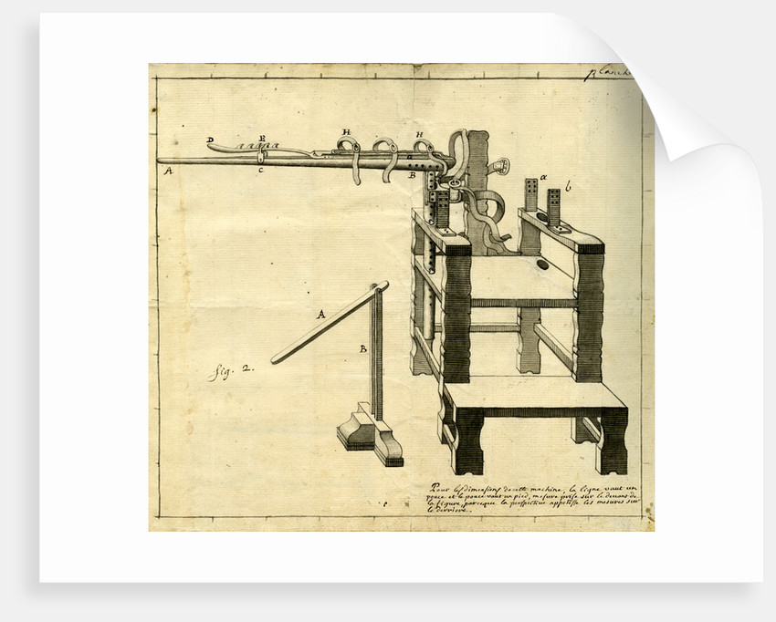 Ambe of Hippocrates: contraption for repairing dislocated shoulder by Claude-Nicholas Le Cat