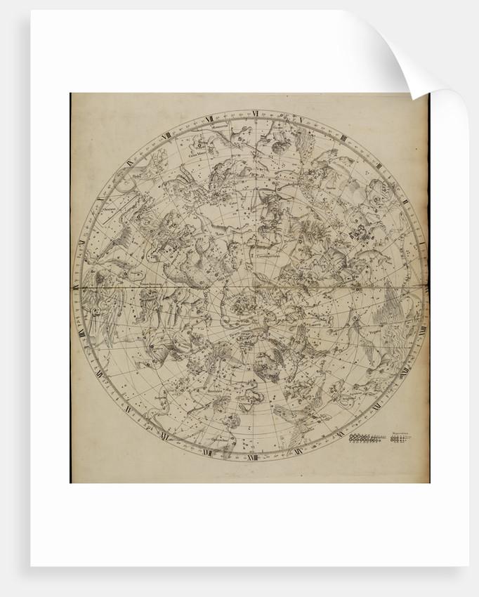 Northern planisphere, from John Flamsteed's 'Atlas Coelestis' by unknown