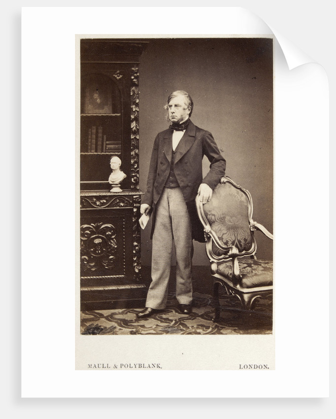 Portrait of William Cavendish, 7th Duke of Devonshire (1808-1891) by Maull & Polyblank