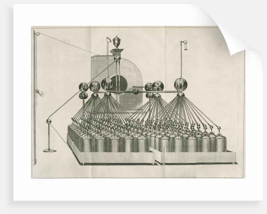 Electrical machine and Leyden jar batteries at Teyler's Museum by Barend de Backer