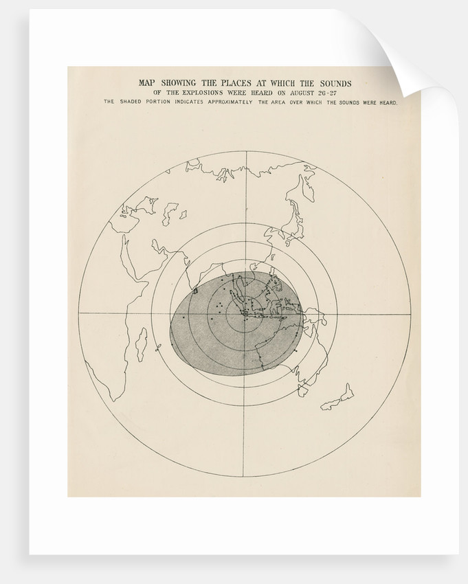 Sound range of the Krakatoa explosions by Malby & Sons