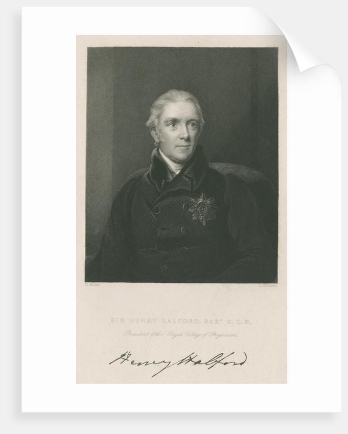 Portrait of Sir Henry Halford (1766-1844) by John Cochran