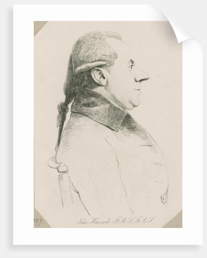 Portrait of John Heaviside (bapt. 1748-d.1828) by William Daniell
