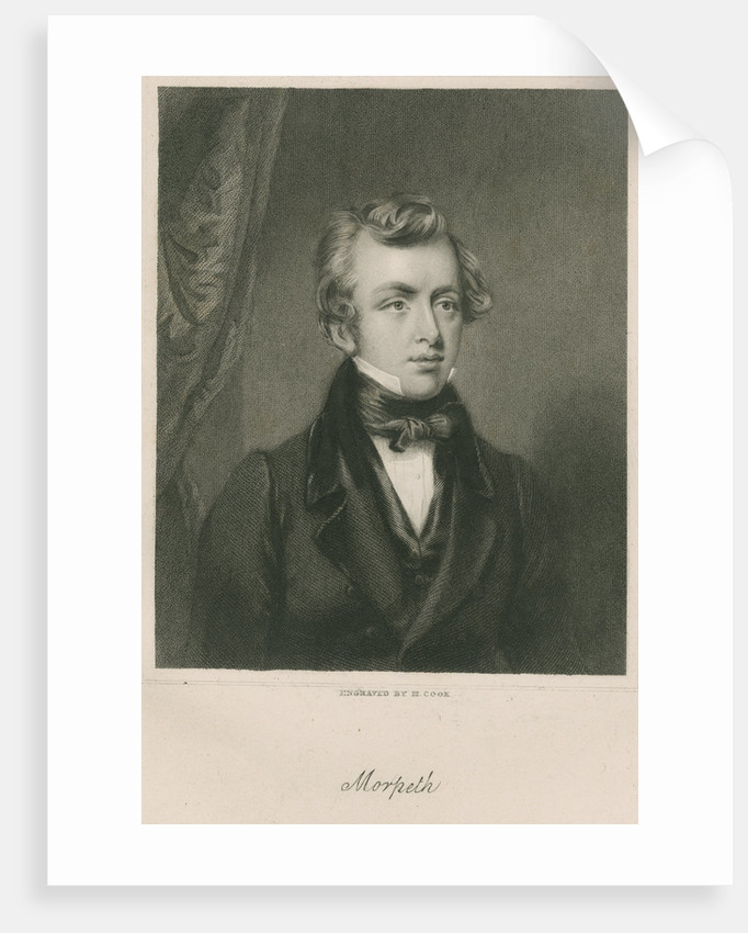 Portrait of George William Frederick Howard, 7th Earl of Carlisle (1802-1864) by Henry Richard Cook