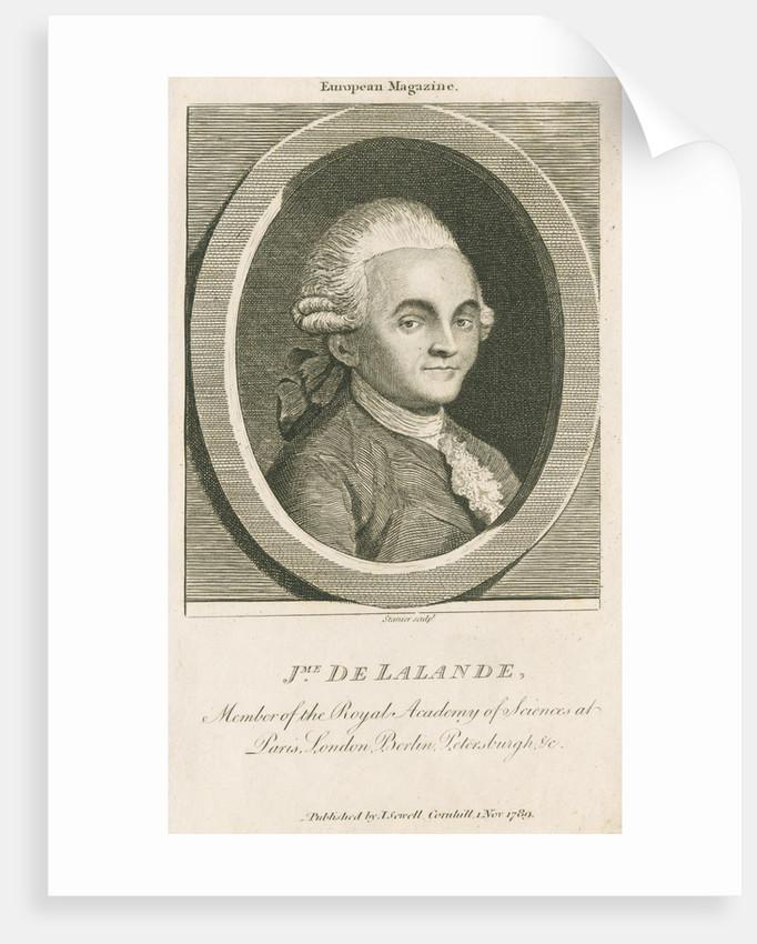 Portrait of Joseph Jerome Lefrancois de Lalande (1732-1807) by R Stanier
