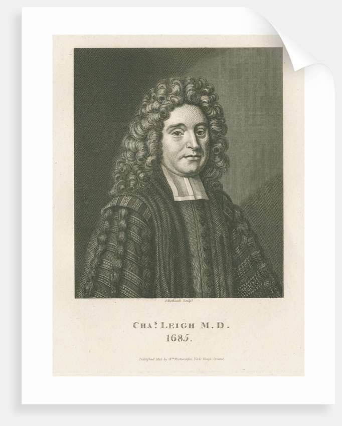 Portrait of Charles Leigh (1662-1701) by P Rothwell