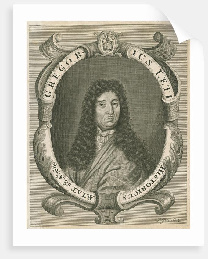 Portrait of Gregorio Leti (1630-1701) by Jacob Gole
