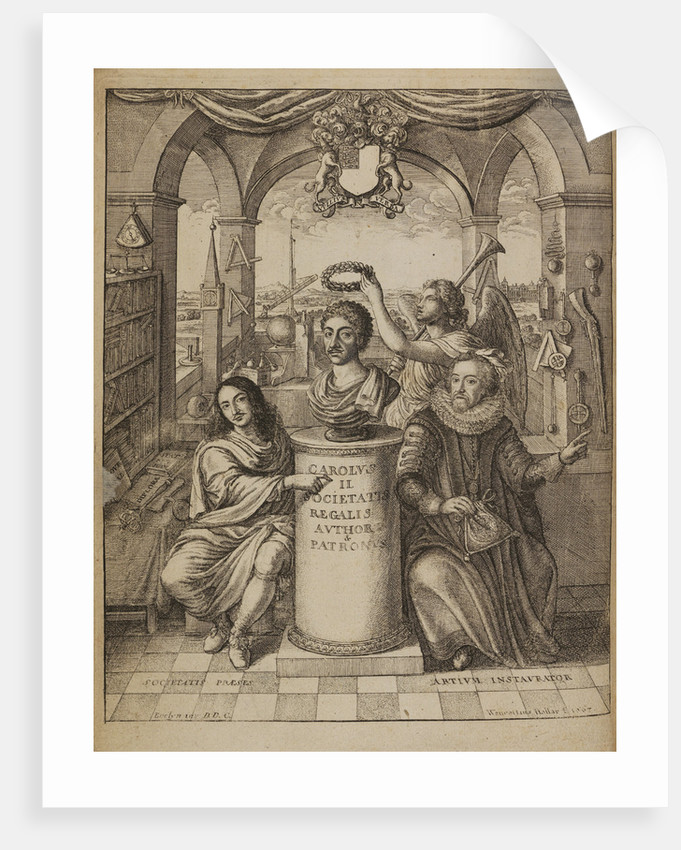 Frontispiece to Thomas Sprat's 'The History of the Royal Society' by Wenceslaus Hollar