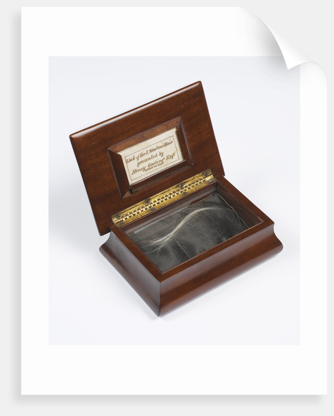 Lock of Newton's hair by Anonymous