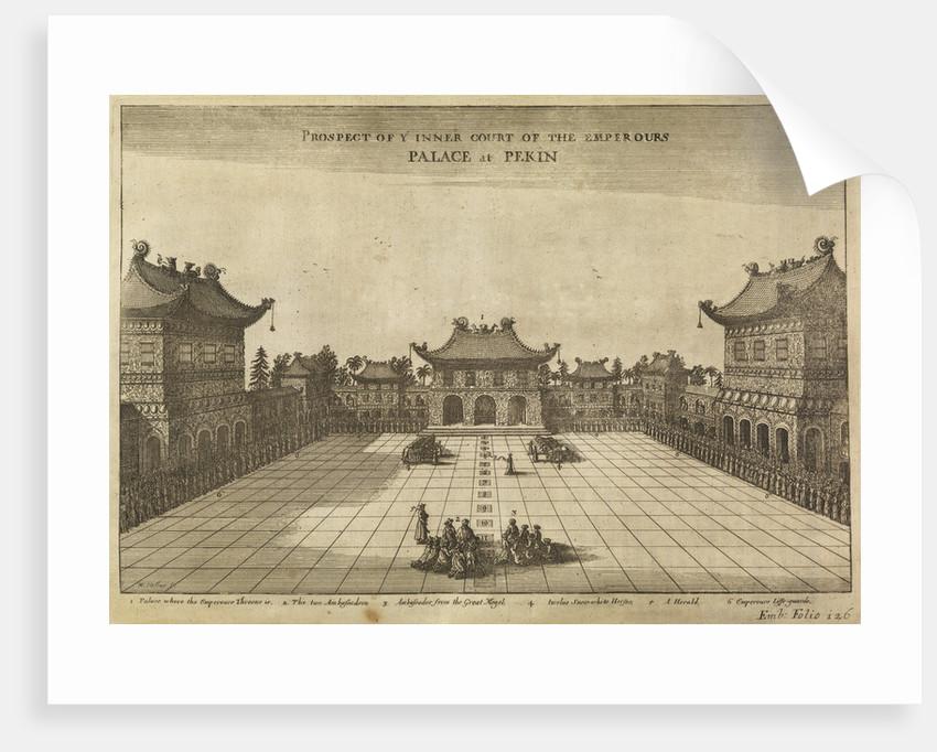 'Palace at Pekin' [Beijing] by Wenceslaus Hollar