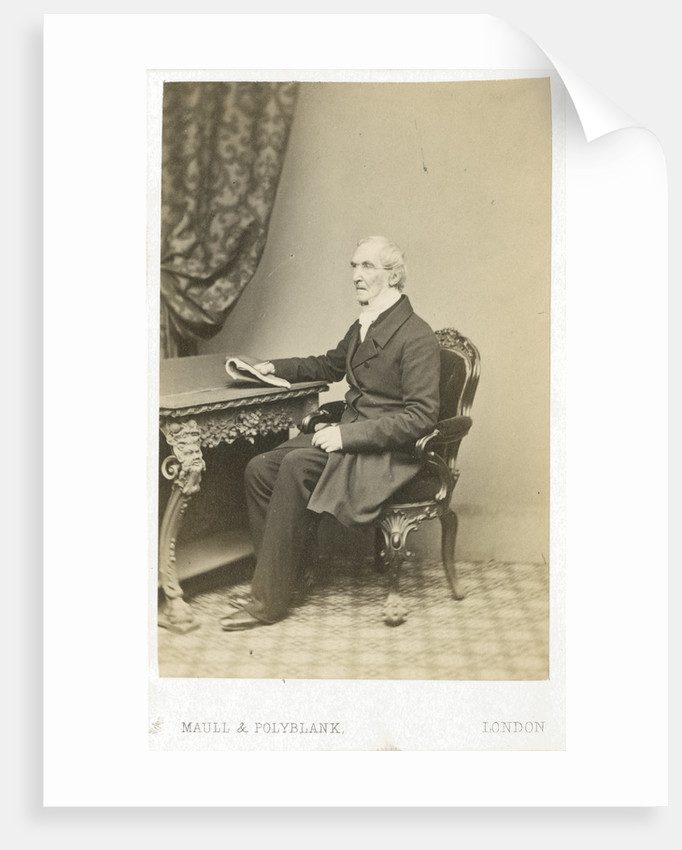 Portrait of Thomas Burnet (d.1875) by Maull & Polyblank