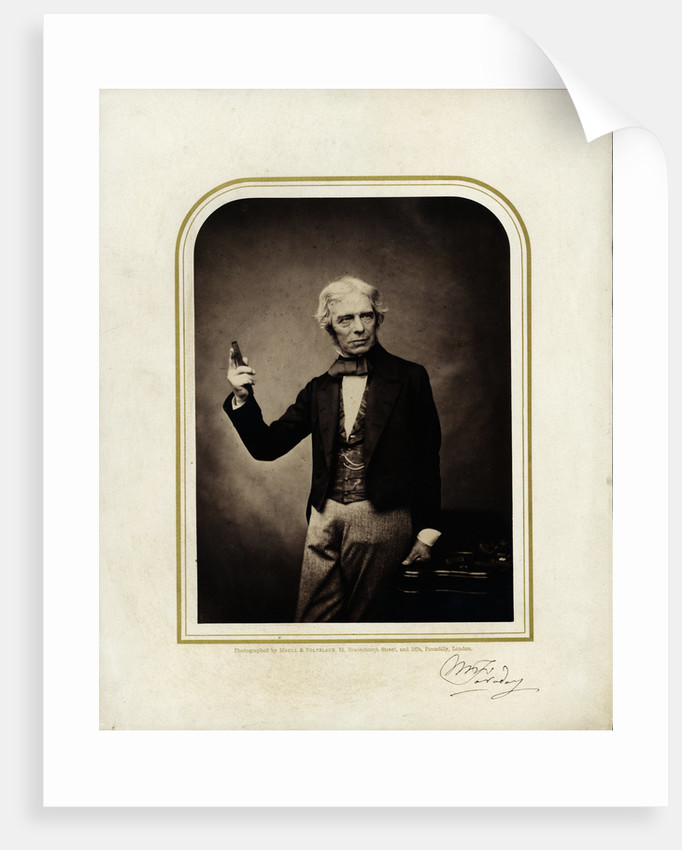 Portrait of Michael Faraday (1791-1867) by Maull & Polyblank