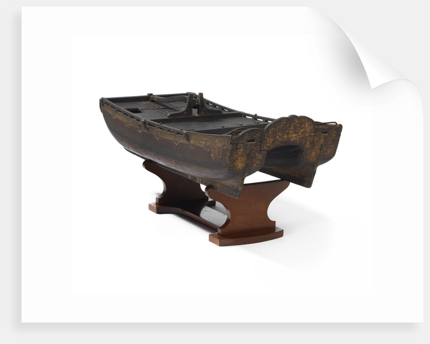 Model of a twin-hulled ship by Stephen Worlidge
