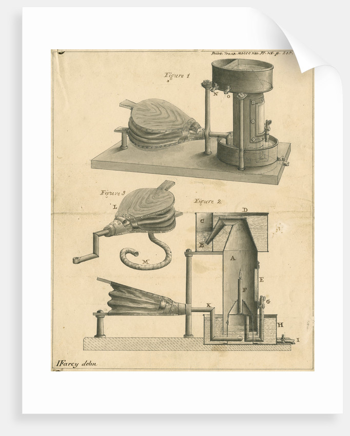 Miners' safety lamp by John Farey