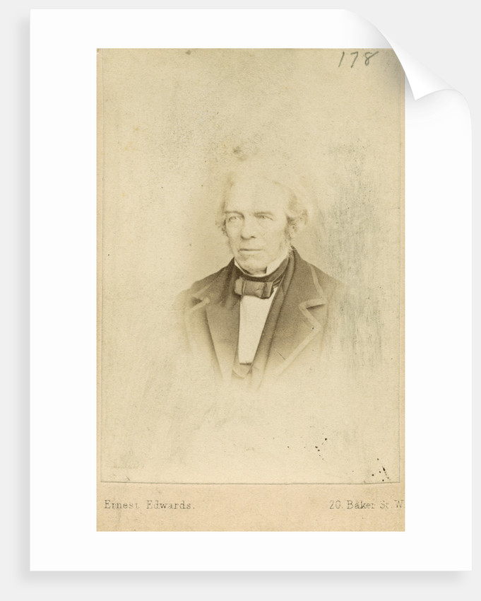 Portrait of Michael Faraday (1791-1867) by Ernest Edwards