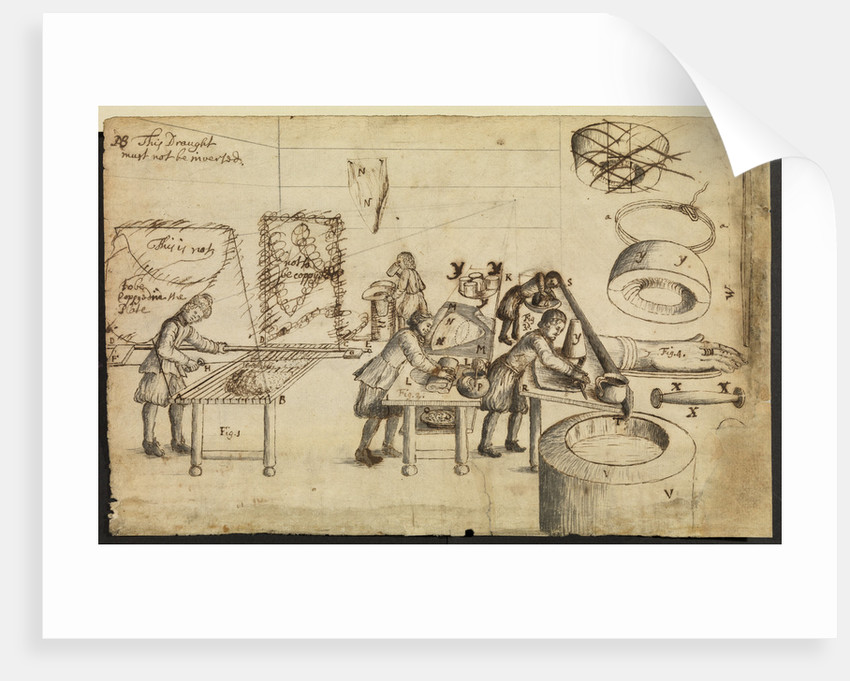 Felt-makers at work by Robert Hooke