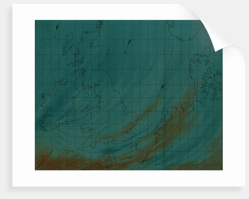 Map showing polar air current by Martin & Hood