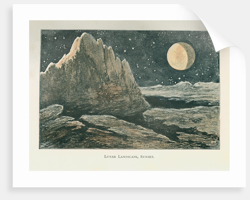 The lunar landscape 'at sunset' by Anonymous
