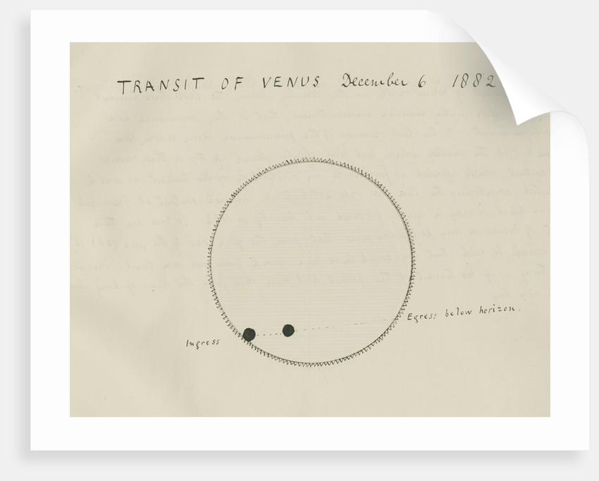 'Transit of Venus December 6, 1882' by Samuel Johnson