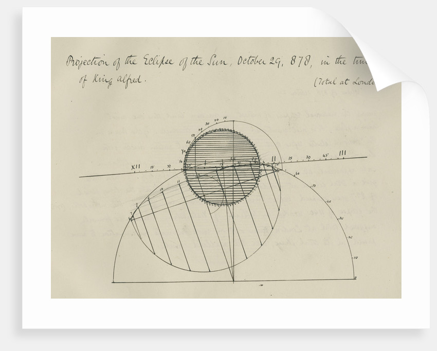 'Projection of the eclipse of the Sun, October 29, 878, in the time of King Alfred' by Samuel Johnson