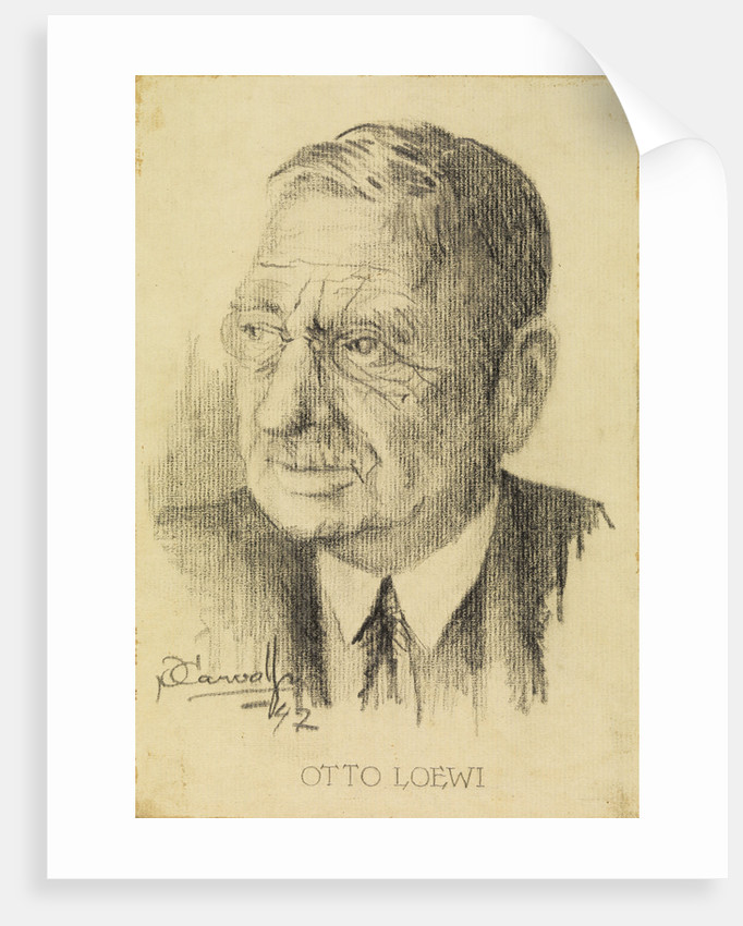 Portrait of Otto Loewi (1873-1961) by P Carvalho