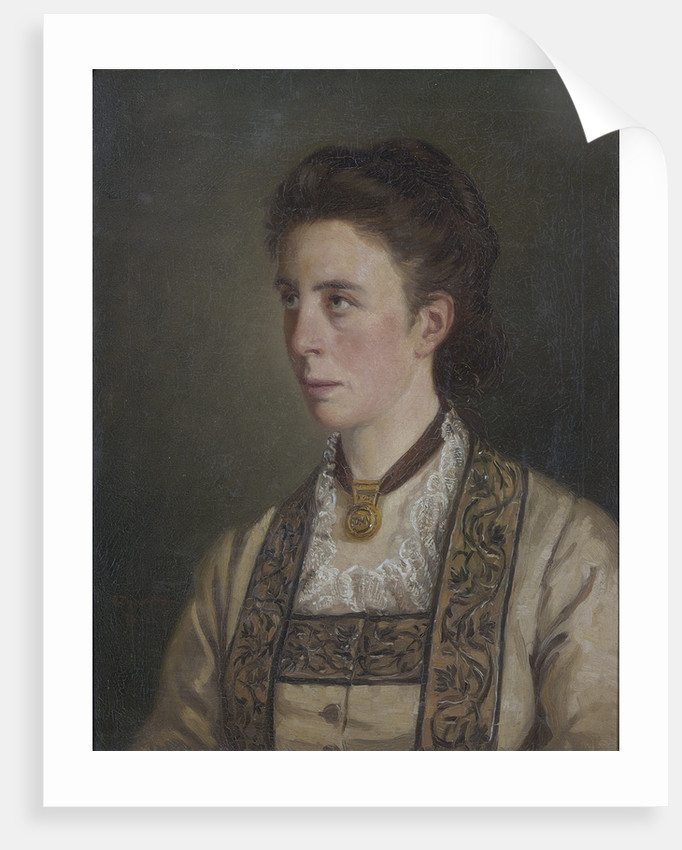 Portrait of Louisa Charlotte Tyndall (1845-1940) by Victor Zippenfeld