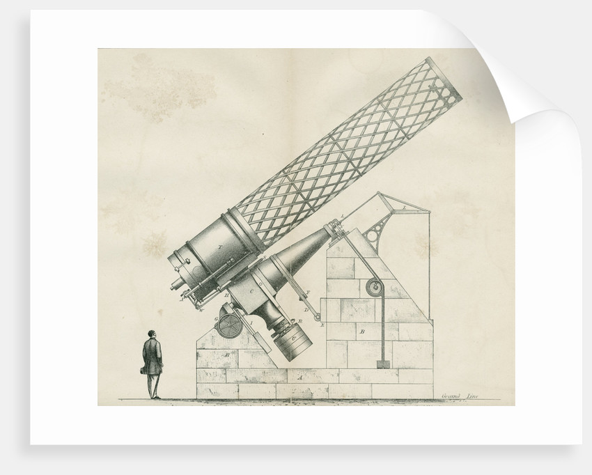 Artist's impression of the Great Melbourne Telescope by W H Wesley