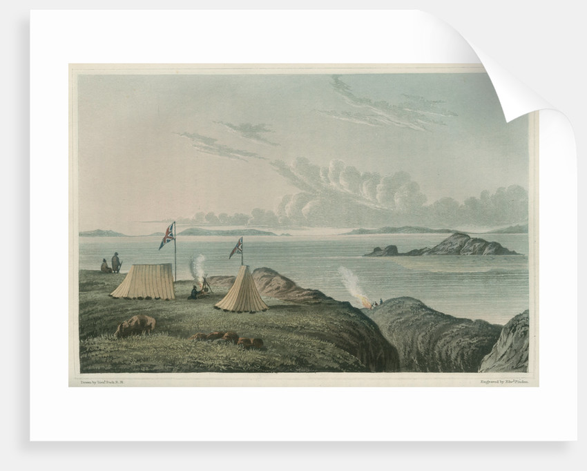 View of the Arctic Sea, from the mouth of the Copper Mine River by Edward Francis Finden