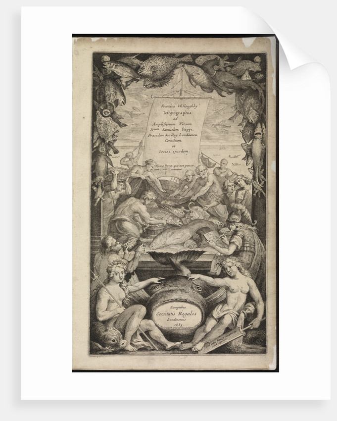 Title page of 'Icthyographia' by Paul van Somer II