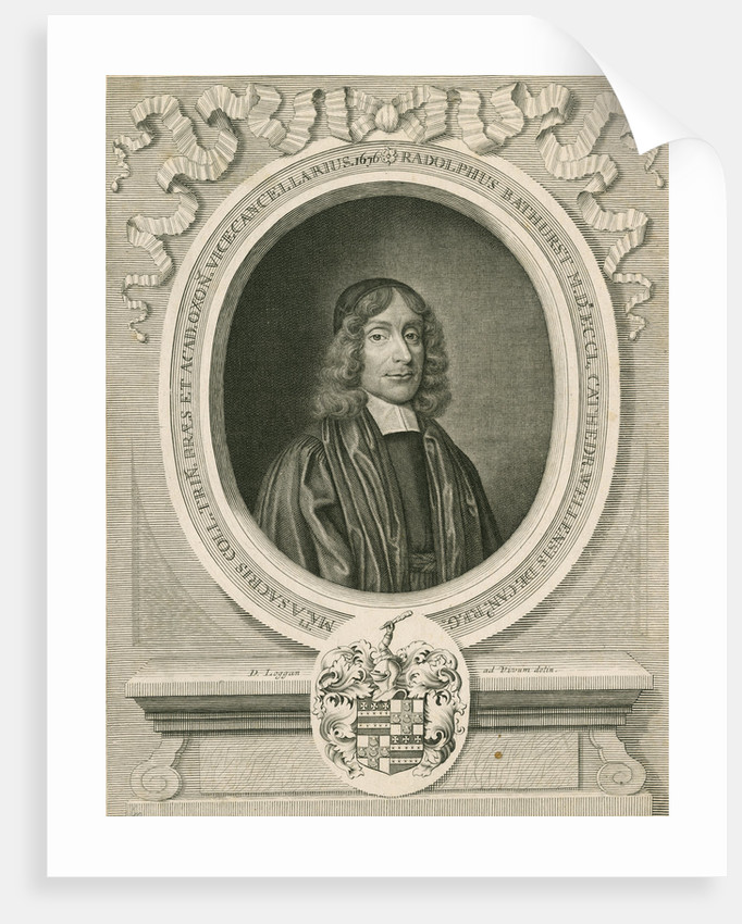 Portrait of Ralph Bathurst (1620-1704) by David Loggan