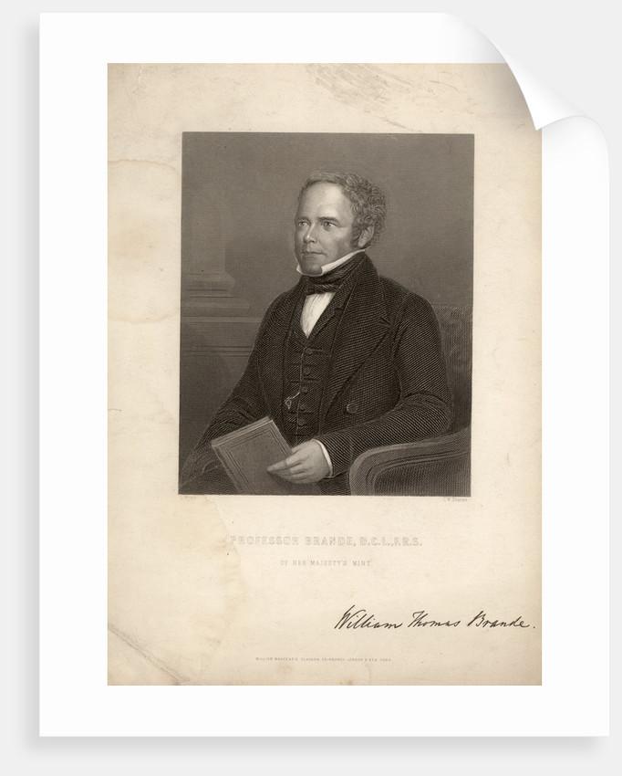 Portrait of William Thomas Brande (1788-1866) by Charles William Sharpe